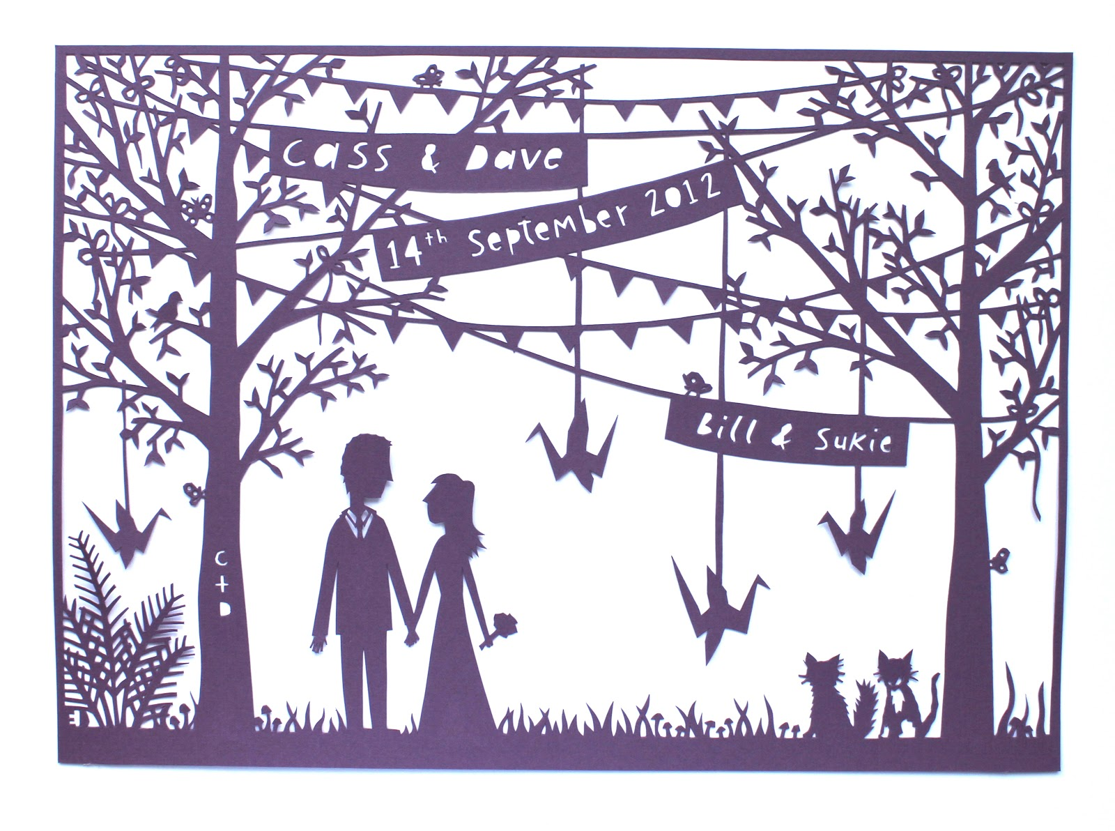 Made By Ed Paper Cut Commission For A Brothers Wedding