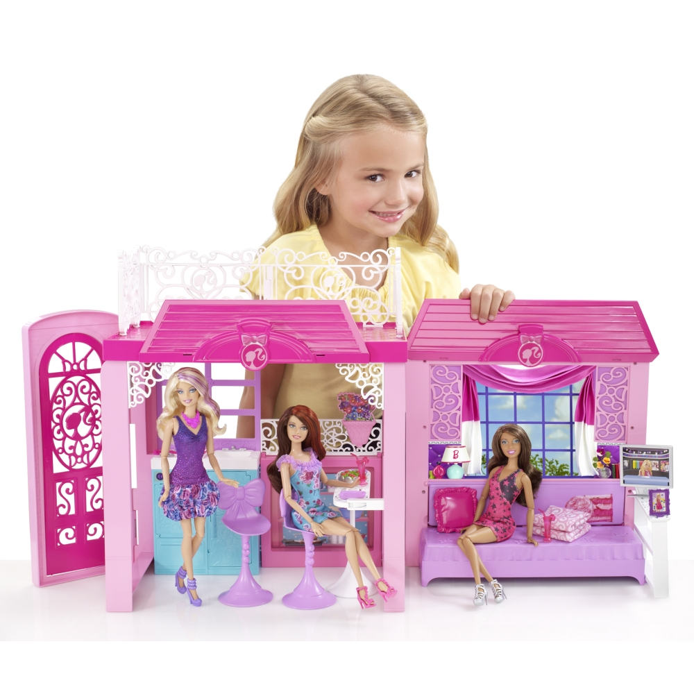 Ken Doll Barbie Glam Vacation House 2013