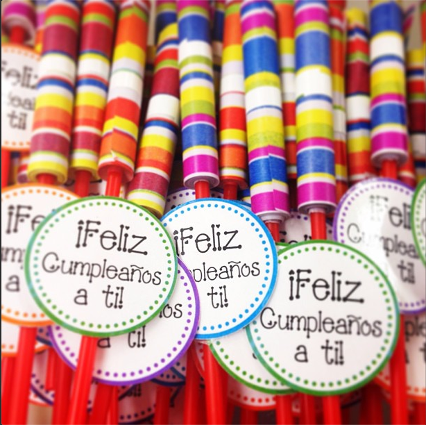 http://www.teacherspayteachers.com/Product/Feliz-Cumpleanos-Happy-Birthday-Circle-Tags-FREEBIE-1366191