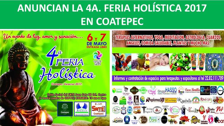 ANUNCIAN LA 4A. FERIA HOLÍSTICA 2017 EN COATEPEC