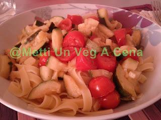 le verdure con la pasta