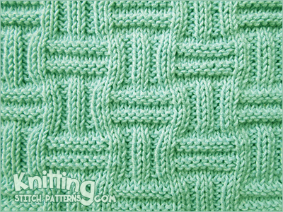 Double Basket Pattern Knitting Stitch Patterns