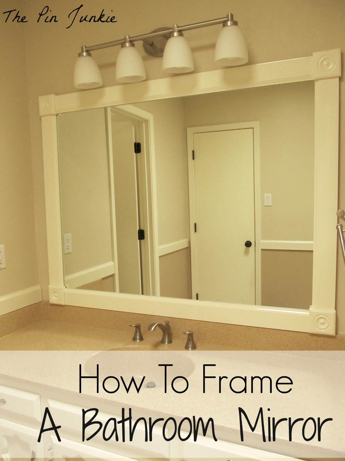Brilliant DIY Framed Bathroom Mirror  Things I Want To Try  Pinterest