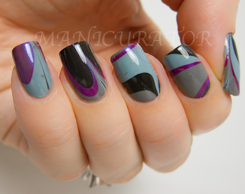 Manicurator 31dc Day 20 Water Marble Nail Art With China Glaze
