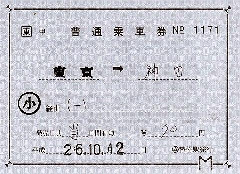 JR東日本 替佐駅 常備軟券乗車券2 発駅補充片道乗車券