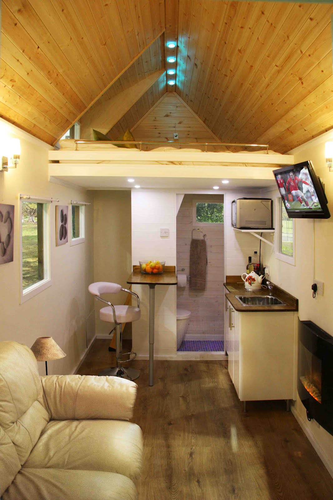 Shedworking olympic guest house shed - Custom house interiors ...