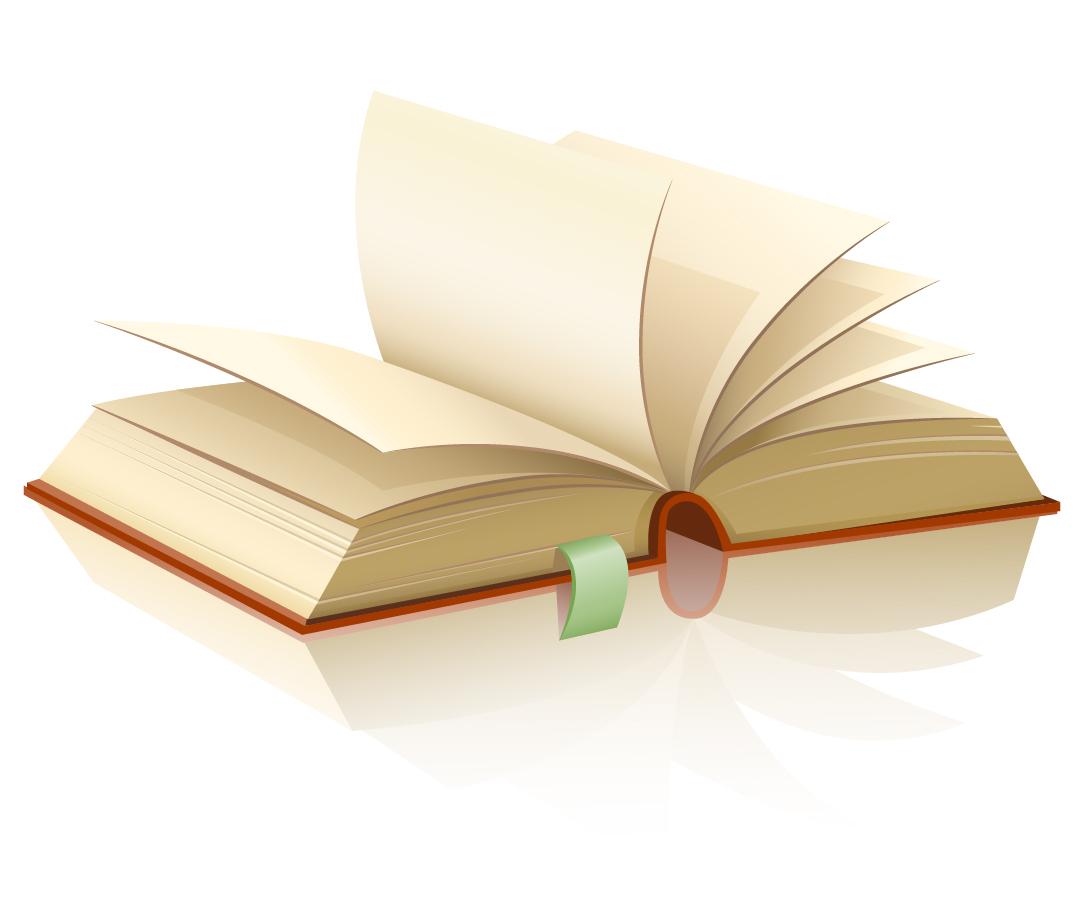 厚い書籍のクリップアート book vector イラスト素材4