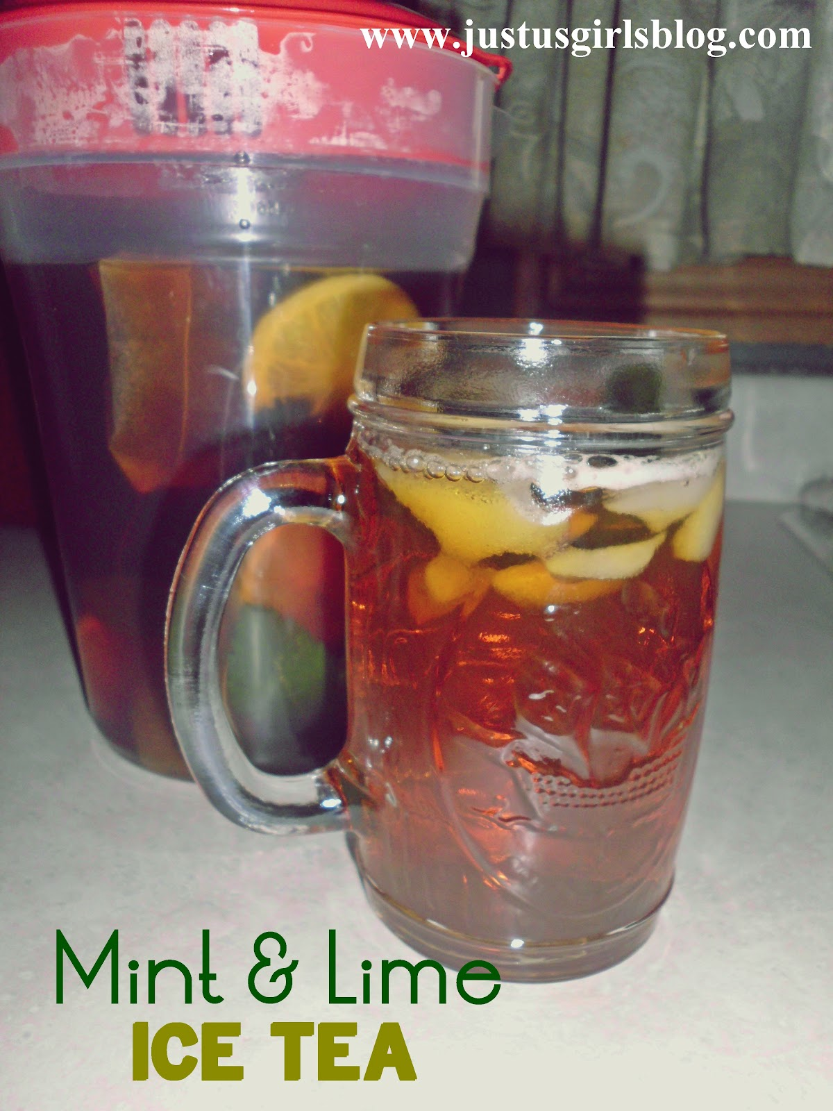 Just Us Girls: Thirsty Thursday: Mint & Lime Iced Tea