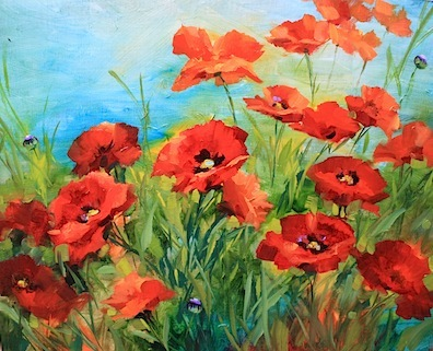 Nancy medina art the bells of frayssinet and sing to me poppies the bells of frayssinet and sing to me poppies flower paintings by nancy medina mightylinksfo Image collections