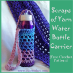 Scraps of Yarn Water Bottle Carrier