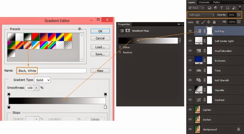 Belajar Edit Foto Efek Mademoiselle menggunakan Gradient Map Photoshop Cs6