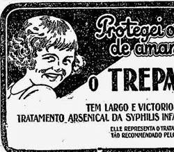 Propaganda do Remédio Treparsol: combate às doenças venéreas.