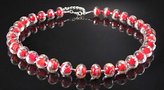 handmade lampwork beads jewelry necklace