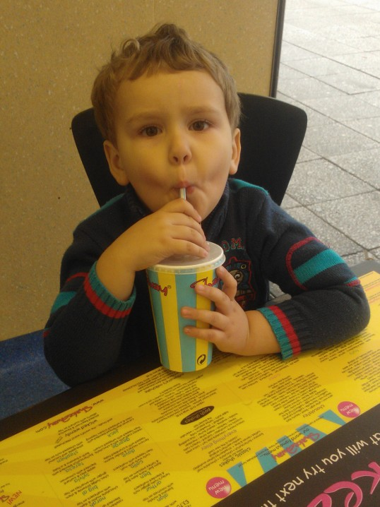 Big Boy having a Shakeaway