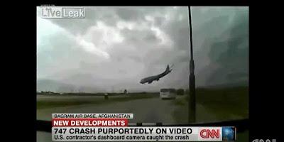 Video Pesawat Kargo Amerika Jatuh di Afganistan