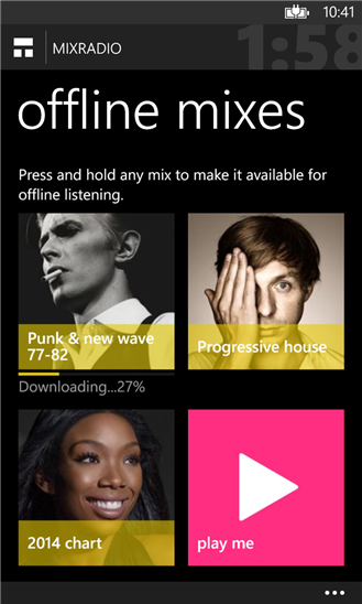 MixRadio on Nokia Lumia 925