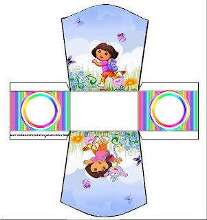 cajita abierta de Dora la Exploradora para imprimir gratis