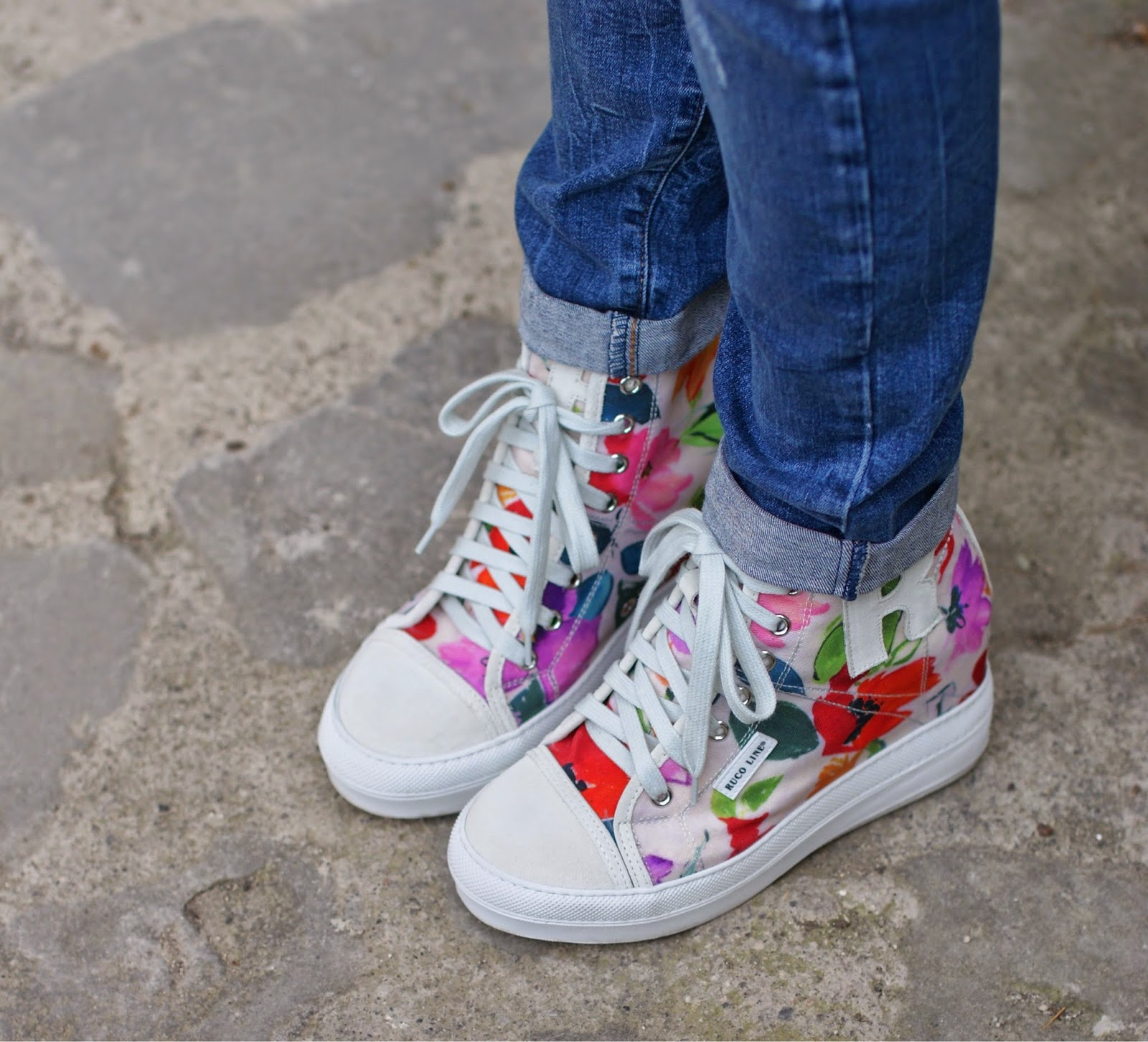 Ruco Line sneakers a fiori, Ruco Line floral sneakers, Fashion and Cookies, fashion blogger