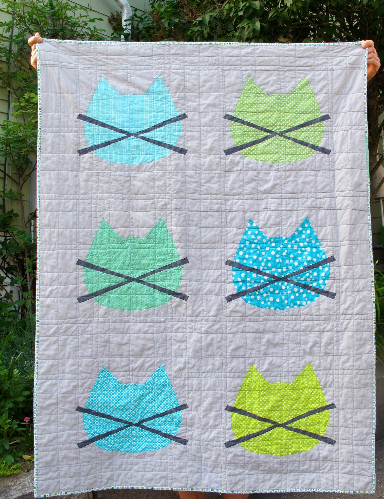 Free Pieced Baby Quilt Patterns : Six White Horses: Whiskers: a Free Baby Quilt Pattern