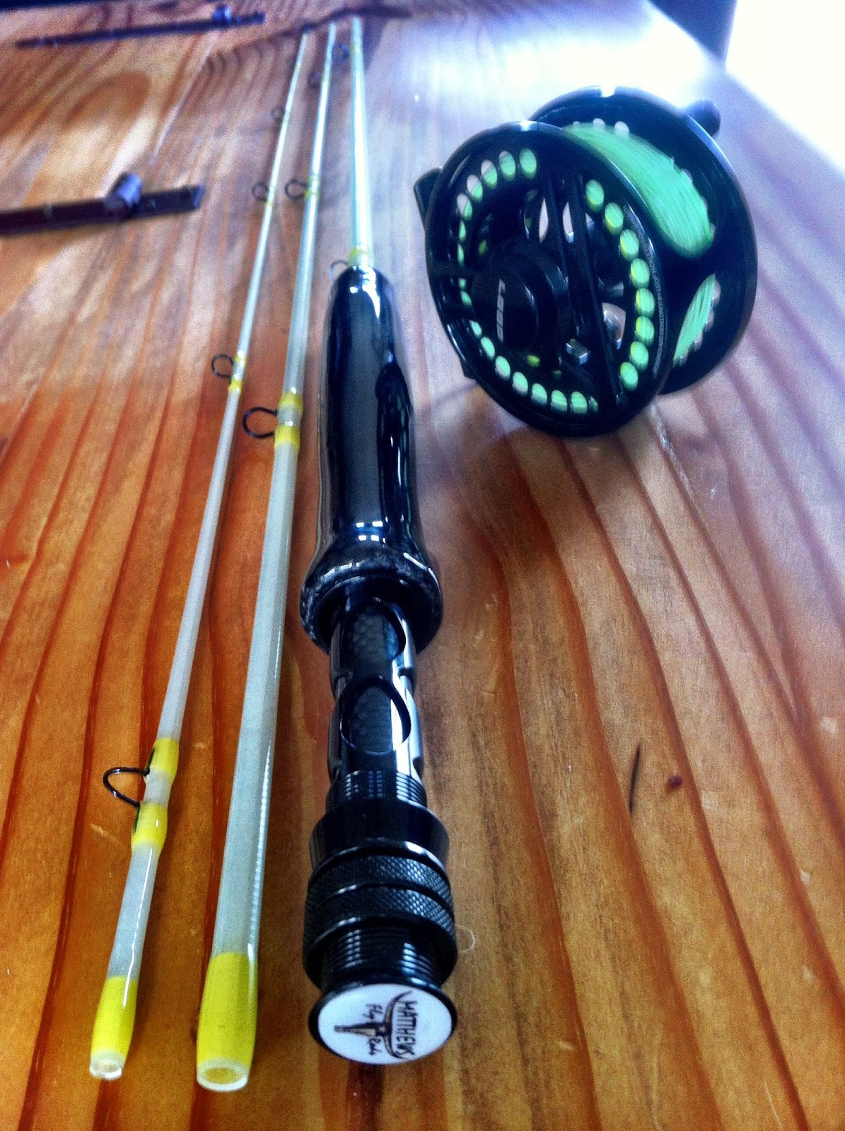Matthews fly rods blue halo 7 39 6 3pc 3 4 wt for Halo fishing rods