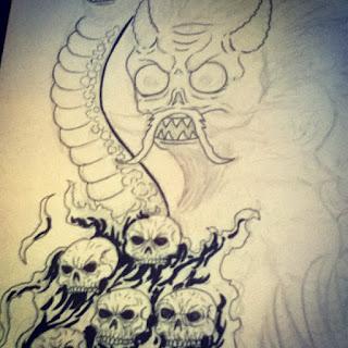 japanese demon drawing
