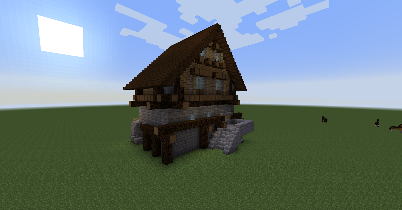 Maison en bois minecraft plan for Minecraft maison moderne plan