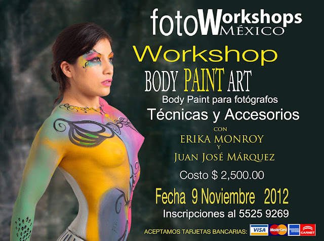 Curso de fotografía Body Paint Art,Foto Workshops México Curso de Fotografía Digital en México D.F.