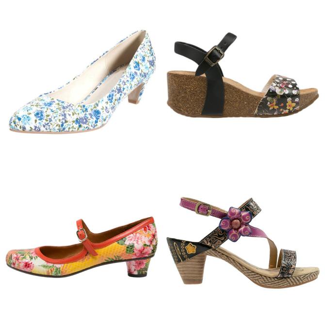trend scarpe primavera 2015 floreale