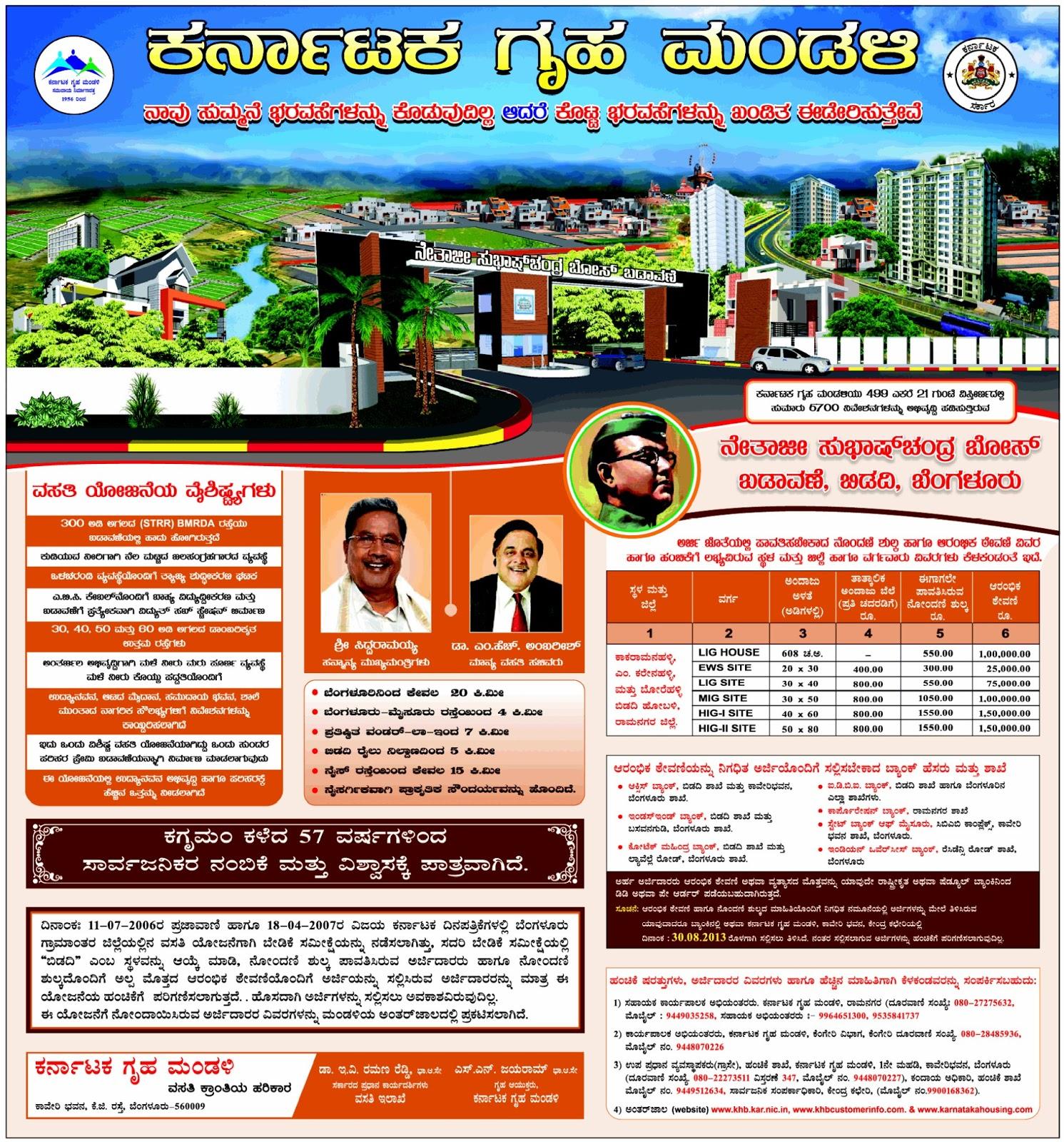 Karnataka Housing Board Netaji Subhas Chandra Bose Colony