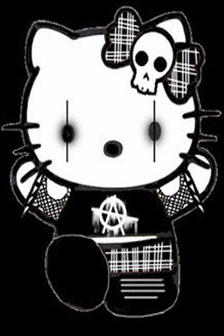 Suit For You Who Love Hello Kitty In Childhood Past But Have A Gothic Style Present Enjoy This Wallpaper IPhone Android