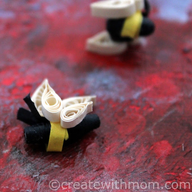 bee paper craft quilling