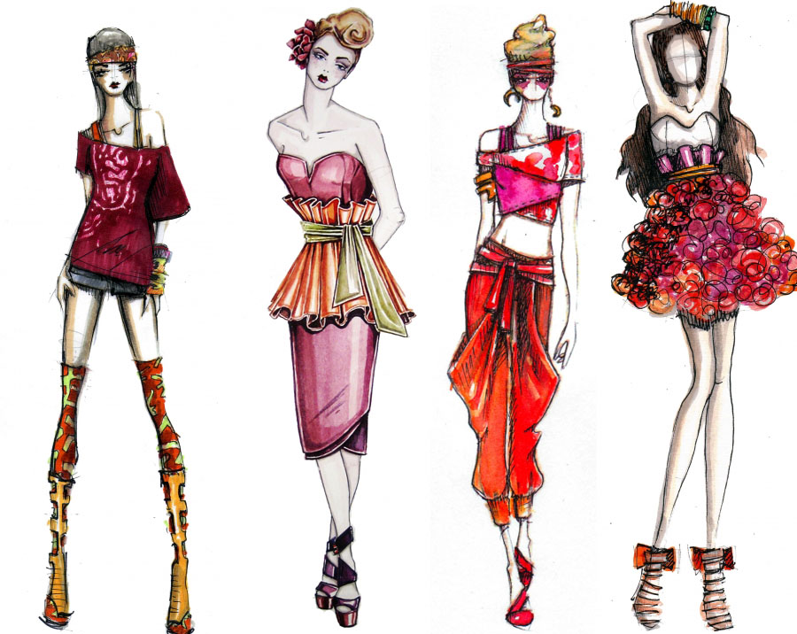 Fashion illustration by fashion designers cover