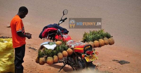 Pineapple Man Jugaad Only in Africa