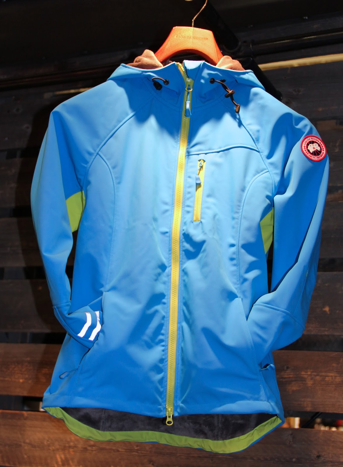 canada goose softshell jacket blue