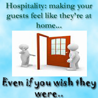Funny Quotes Hospitality making your guests