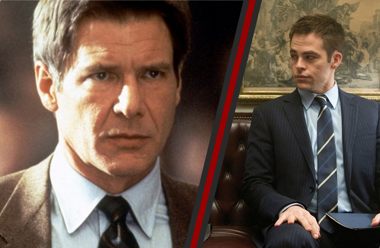 Harrison Ford and Chris Pine as Jack Ryan