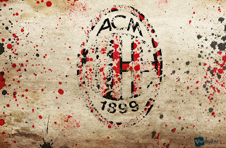 AC Milan Logo Paint Splash Design HD Wallpaper