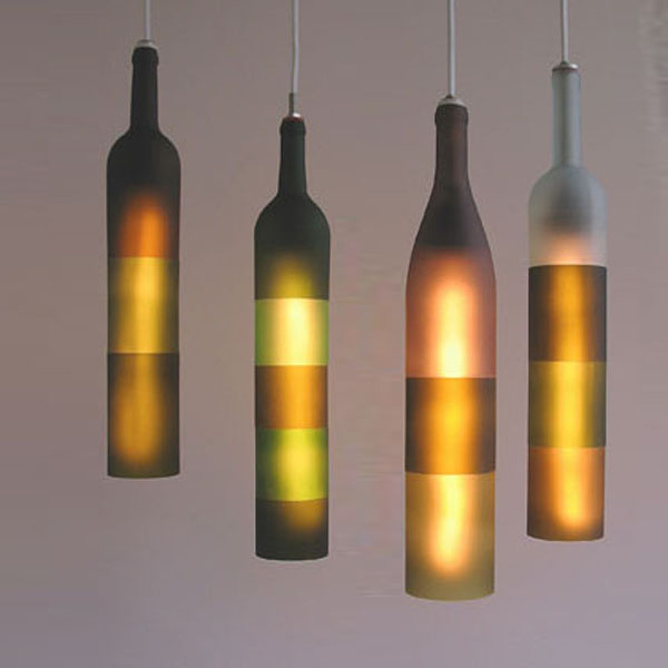 Wine Bottle Pendant Lights