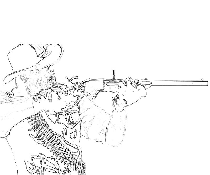 red dead redemption coloring pages - photo#2
