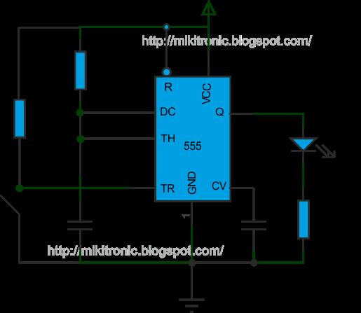 Circuito Monoestable 555 : Proyectos electronicos monoestable