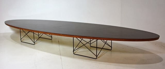 Early Elliptical Table (surfboard) Charles And Ray Eames For Herman Miller.  Circa 1951.