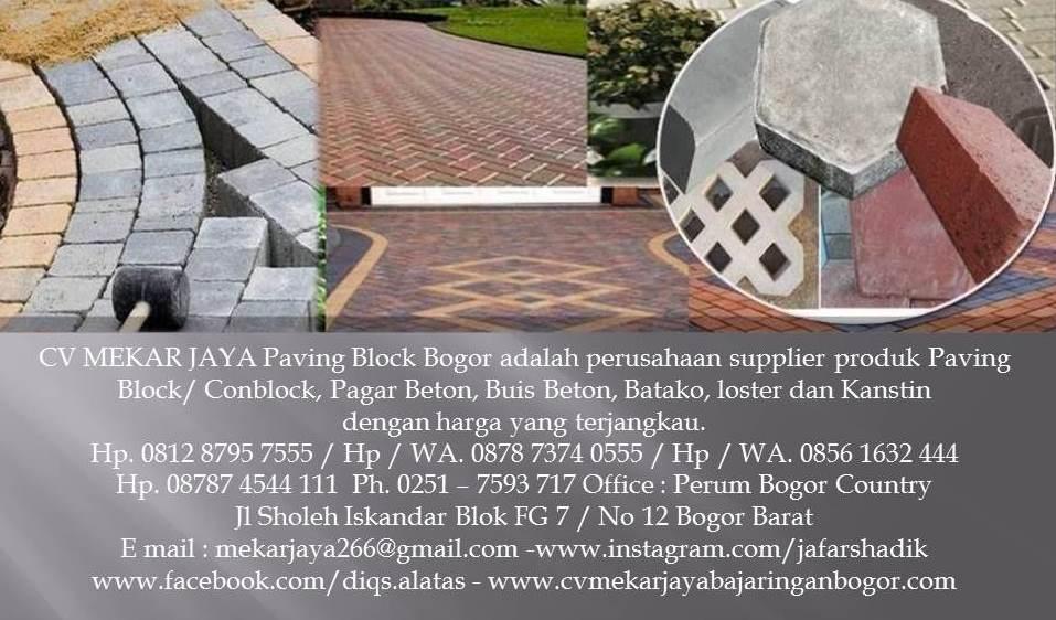 CV MEKAR JAYA Paving Block Bogor
