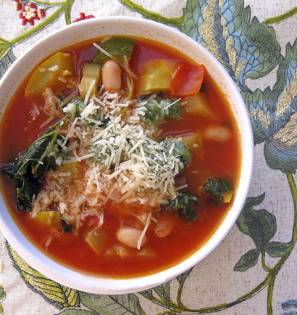 Cooking with Corey: Tomato-Zucchini Soup with Kale, Yellow Squash ...