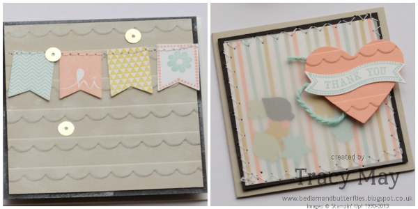 Stampin up sale-a-bration envelope punch board notelet holder Tracy May card making gift ideas