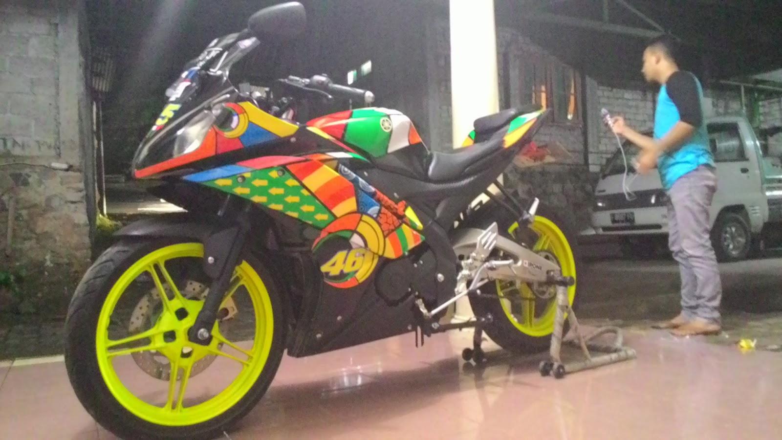 modifikasi yamaha r15 ala vr46 ~ yamaha r15 club indonesia @bogor