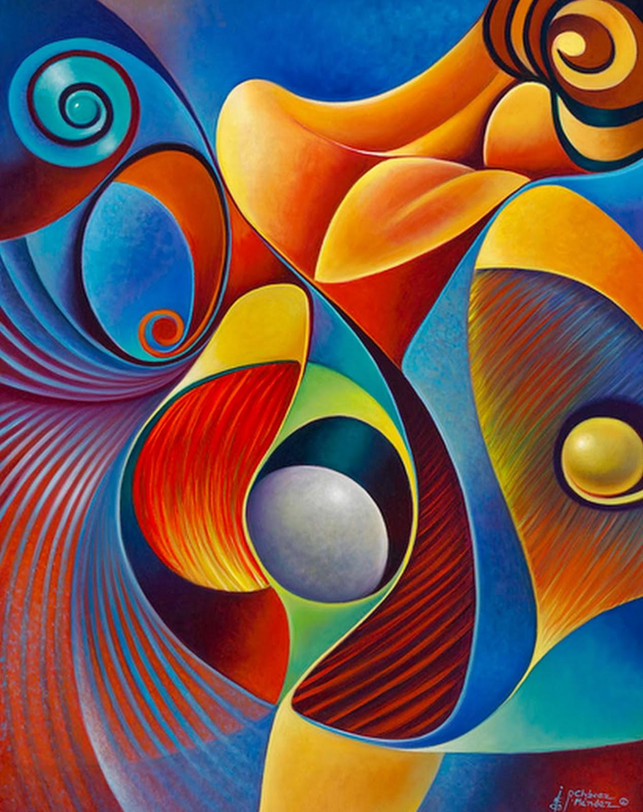 Im genes arte pinturas pinturas modernas al leo ricardo for Imagenes de cuadros abstractos geometricos