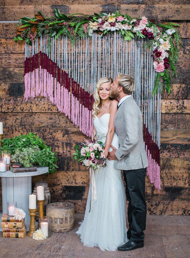 Una boda Vintage decorada con macram�