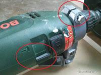 Perno de apriete y modo martillo desconectado. www.enredandonogaraxe.com
