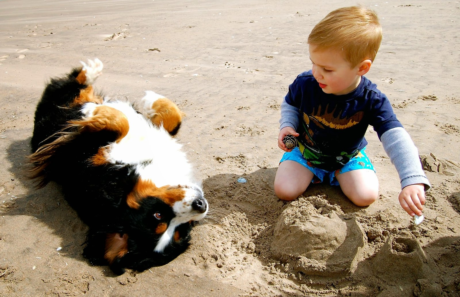 Mattie and Jackson on the beach