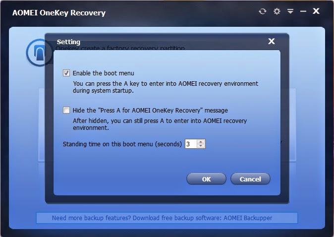 شرح كيفية عمل نسخ إحتياطي للنظام بأكمله وإستعادته في أي وقت أخر AOMEI OneKey Recovery